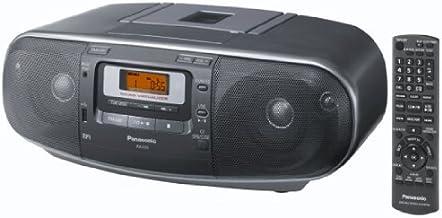 Panasonic RX-D55AEG-K - Radio Cassette y grabador CD (20 W, 4 altavoces de 2 vías, radio AM/FM, USB, Digital Audio Player, sonido envolvente natural, remasterizado MP3, Sound Virtualizer) gris