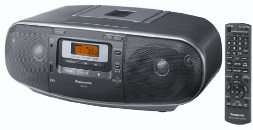 Panasonic RX-D55AEG-K - Radio Cassette y grabador CD (20 W, 4 altavoces de 2 vías, radio AM/FM, USB, Digital Audio...