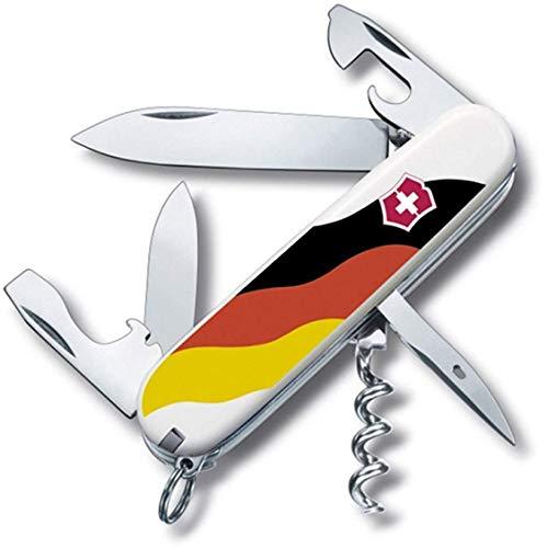 Victorinox Spartan Couteau de Poche Suisse, Léger, Multitool, 12 Fonctions, Lame, Ouvre Boite, Tire Bouchon, Allemagne Print