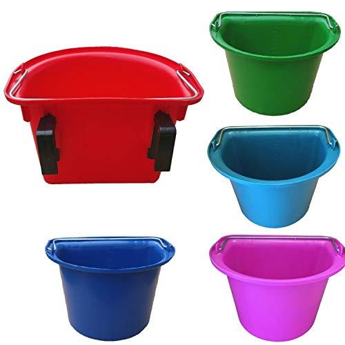netproshop Gewa Eimer zum Hängen mit Haken Flexibel Abnehmbar 12 Liter, Farbe:Pink