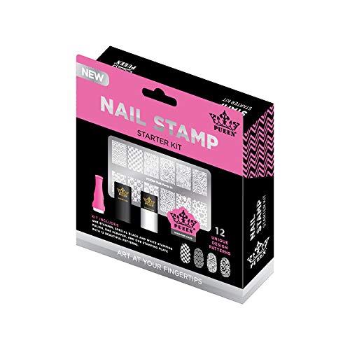 PUEEN Nail Art Stamping Starter Kit - Unique DIY Nailart Stamping...