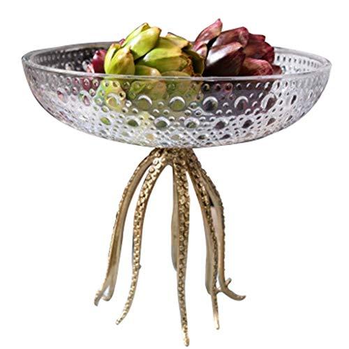 JYV El Cuenco De Fruta, Fruta De La Placa del Bocado Caramelo Placa Placa Mesa De La Decoración De La Casa For Guardar La Bandeja De Regalo De Vidrio (Color: Claro) (Size : 29.5x26.5CM)