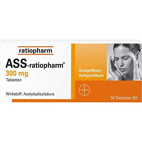 ASS-ratiopharm 300 mg Tabletten, 50 St. Tabletten