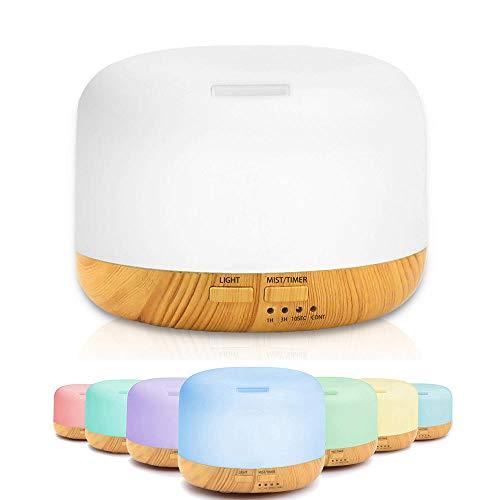 HDFIER luchtbevochtiger kinderkamer stille luchtbevochtiger ultrasone geurverstuiver humidifier etherische olie diffuser voor baby's geurlamp tafellamp houtnerf vloerlamp