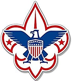 MAGNET Boy Scouts AMERICA Fleur De Lis Logo Magnet(scouting emblem insigina) 4 x 4 inch