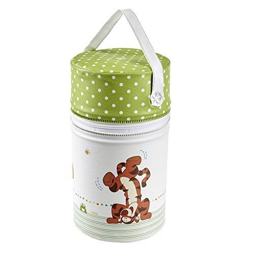 keeeper Disney Winnie Puuh Isoliertasche für Babyflaschen, 10 x 21 cm, Pola, Weiß