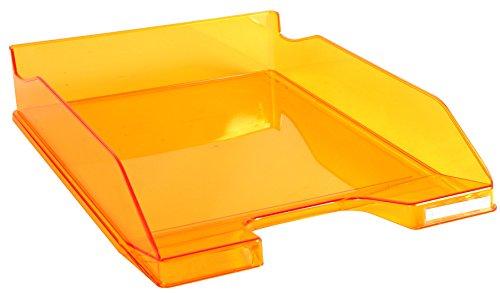 Exacompta Linicolor - Bandeja de correo, color naranja transparente glossy