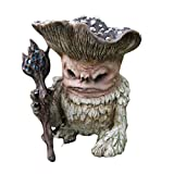 Fairy Mushroom Monster Shaman Wizard Troll Resin Garden Ornament, Miniature Fairy Garden Troll Funny Lawn Figurine,Funny Fairytale Mushroom Wizard Garden Guardian Statue, Gnomes Garden Decorations