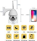 zdw 1080p sans fil Ptz Speed Dome Ip Camera Wifi Baby Monitor avec Ir Vision nocturne et fonctionnalités de détection de mouvement, caméra réseau audio vidéo bidirectionnelle, surveillance de sécur