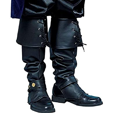 Forum Novelties Men's Deluxe Adult Pirate Boot Covers with Studs, Black, One Size from Forum Novelties Costumes