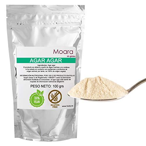 Agar agar en polvo - Ideal para cocinar, sustituto vegano de la gelatina - Producto natural 100g