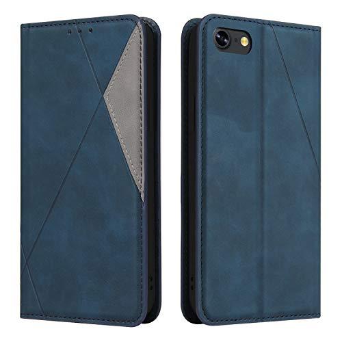 Coque pour iPhone 8/7/SE2 Housse, Etui en Cuir PU Portefeuille Coque avec Fente Carte, Fermeture Magnétique und Flip Béquille pour Apple iPhone7/8 - JEYTB030015 Bleu