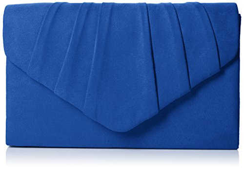 SwankySwans Womens Iggy scamosciata velluto Envelope party Prom pochette frizione, blu (Blue (Royal Blue)), Taglia unica