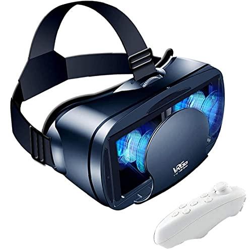 Tuimiyisou VR Casco de Realidad Virtual de Gafas 3D teléfono móvil VR Gafas Distancia Ajustable Suave y cómoda, con Mando a Distancia, Adecuado para Juegos de la película en 3D Negro