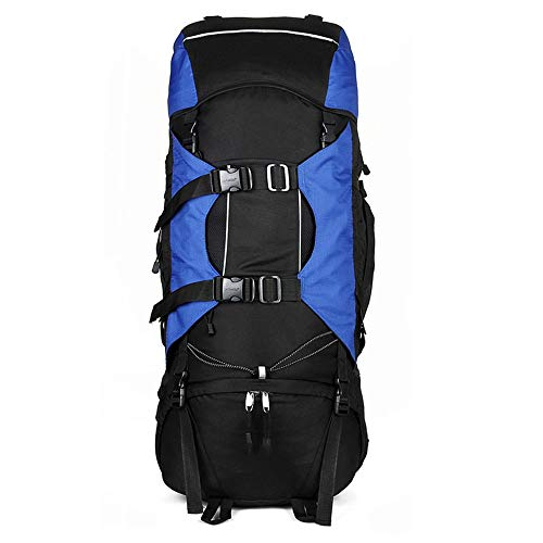 TYXL backpack Outdoor Mountaineering Bag Travel Large Backpack 80L Multi-purpose Camping Backpack (Color : Blue)