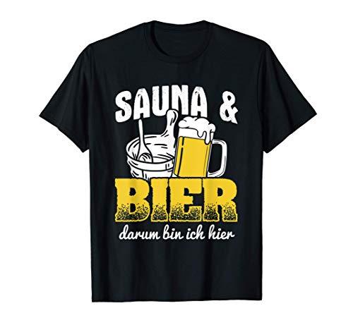Sauna Und Bier Saunieren Wellness Sauna T-Shirt