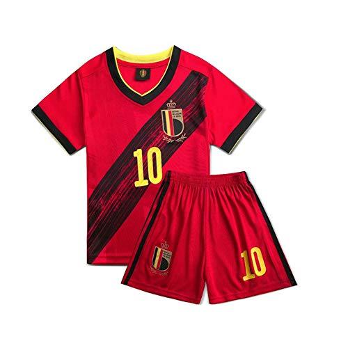 PAOFU-Nationalmannschaft Belgien # 10 Eden Hazard Fußballtrikot für Kinder 12 Jahre rot