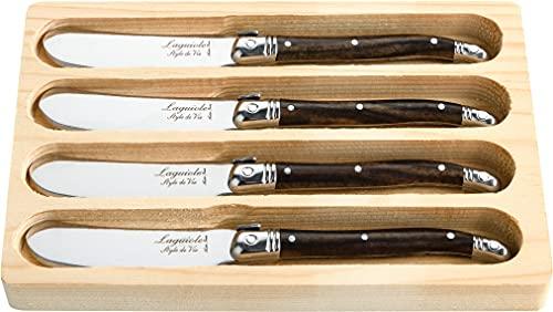 Laguiole Style de Vie Buttermesser Premium Line, 4-teilig, holzfarbe