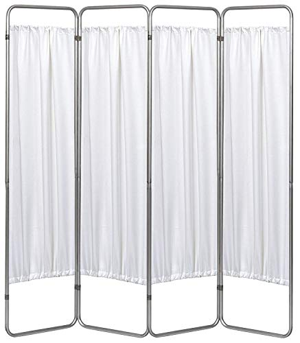 Omnimed 153094-WH 4 Panel Medical Privacy Screen with White Panels