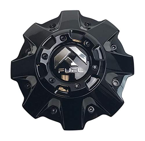 Fuel Offroad Wheels 1001-63GBR Gloss Black Center Cap with Black Rivets