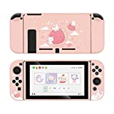 GeekShare Protective Case for Switch, Soft TPU Slim Case Cover Compatible with Nintendo Switch Console and Joy-Con (Strawberry Bunny)