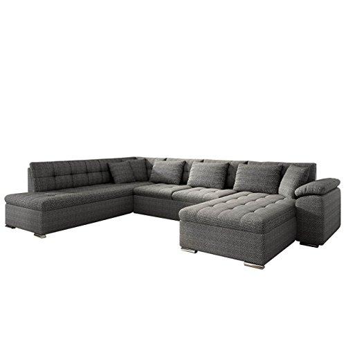 Mirjan24 Eckcouch Ecksofa Niko Bis! Design Sofa Couch! mit Schlaffunktion und Bettkasten! U-Sofa Große Farbauswahl! Wohnlandschaft vom Hersteller (Ecksofa Rechts, Majorka 03)