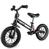 besrey Bicicleta sin Pedales Bicicleta niño 3-5 Años Rueda de Goma Inflable Bicicleta Sin Pedales con Amortiguador Central - Negro