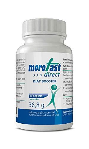 MOROFAST Kapseln mit Garcinia Cambogia, Guarana, Morosil | 100% natürlich + vegan Booster | schnell + einfach zur Einnahme | Bauch, Beine, Hüfte, Po | für Männer + Frauen (60 Kapseln)