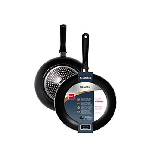 Sartén de Aluminio de Doble Capa Antiadherente, Libre de Pfoa, Mango Ergonómico, Apta para Cocinas de Inducción Vitrocerámica Eléctricas o Gas (Ø22cm)