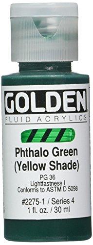 Pro-Art-Bilderpalette Peinture Acrylique Fluide doré 1 oz-phthalo Abat-Jour Vert-Jaune