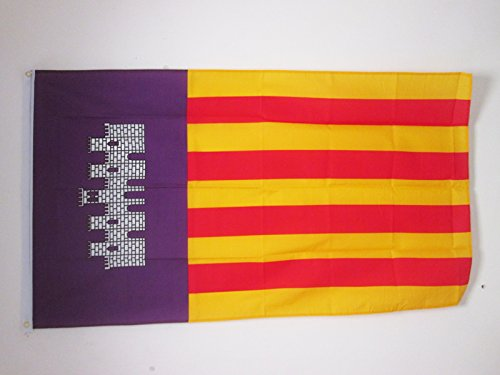 AZ FLAG Flagge Mallorca 150x90cm - Mallorca Fahne 90 x 150 cm - flaggen Top Qualität