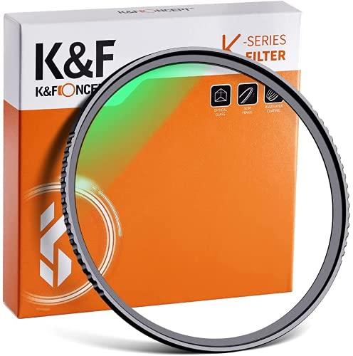 K&F Concept MCUVフィルター 77mm 保護フィルター 紫外線カット 光学ガラス 多層加工 薄枠 99% 透過率