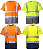 Portwest S378ONRXXXL Hi-Vis - Camiseta de 2 tonos, 3XL, naranja/azul marino