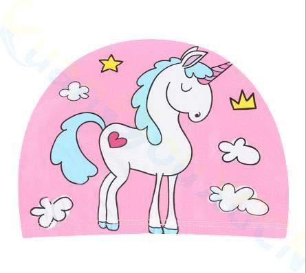 Animal de dibujos animados Niños Gorro de Natación Niñas Niños Sombrero de Natación Elástico Niños Piscina Gorro de Natación 1-10 Años de 1-10 Años Unicornio