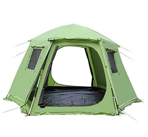 Qazxsw Carpa automática Hexagonal de Doble Capa para familias 4-6 Personas Suministros para Acampar al Aire Libre