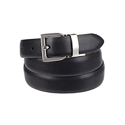 Chaps Women's Plus Size Reversible Belt with Stretch Technology, casual black/brown, 2X