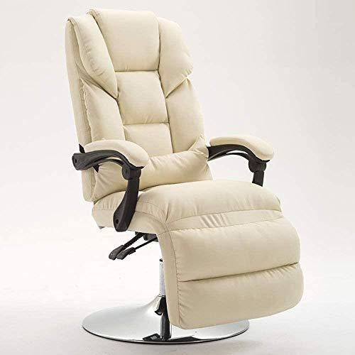 JYHS Silla de belleza reclinable, con máscara de belleza, silla reclinable para computadora, sillón reclinable para el almuerzo, silla de oficina, rosa, negro, color: rosa y cómodo (color: beige)