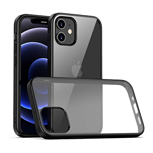 LAYJOY Funda iPhone 12 Mini, Carcasa Ligera Silicona Negro S