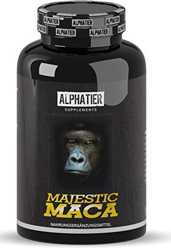 MACA Gold 8000 Kapseln hochdosiert - 180 Capsules - vegan - Original 20:1 Premium Extrakt (Root Powder - Macca-Pulver) - ohne Magnesiumstearat - ALPHATIER SUPPLEMENTS