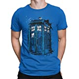 Camisetas La Colmena 308-Camiseta SoftStyle Doctor Who - Time And Space (Dr.Monekers) (Royal XL)
