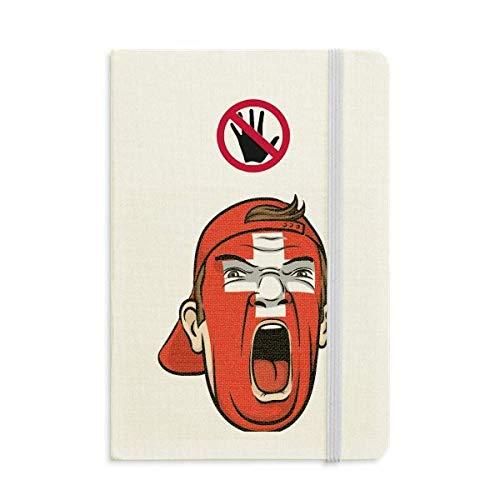 Schweiz Flag Facial Makeup Screaming Cap Secret Notebook Classic Journal Diary A5