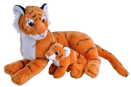 Wild Republic Mom & Baby Tiger Plush, Stuffed Animal, Plush Toy, Gifts for Kids, Zoo Animals, 11""
