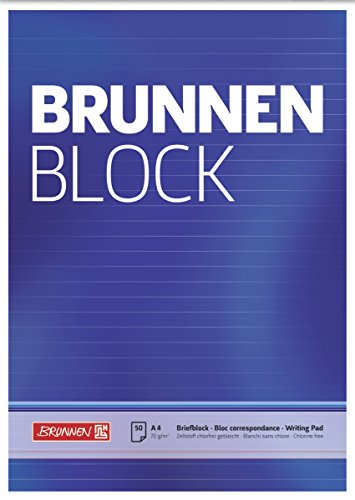 Brunnen 1052727 Briefblock / Schreibblock / Der Brunnen Block (A4, liniert, 50 Blatt, 70 g/m²)