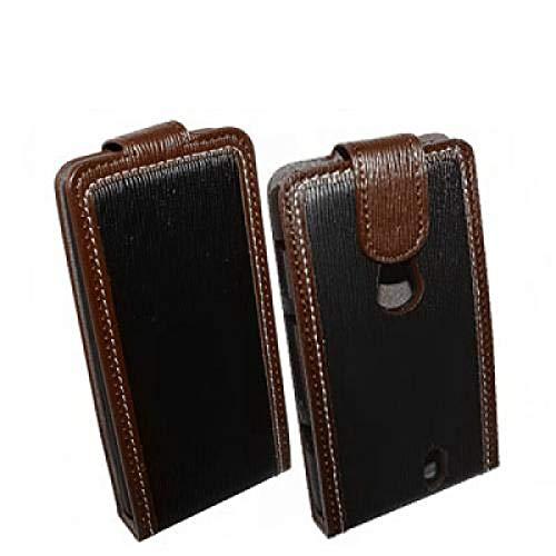 numerva kompatibel mit Sony Ericsson Xperia Neo Handytasche Schutzhülle Xperia Neo V Hülle Schwarz-Braun