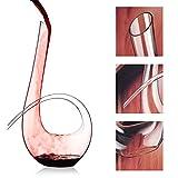 WYK Rotweindekanter + Reinigungs-Perlen, 1240 ml, 6 Stück Rotwein-Schneller Dekanter, mundgeblasen, italienischer Stil, bleifrei, hochwertiges Kristallklarglas für Hochzeit, Jahrestag, Weihnachten - 2