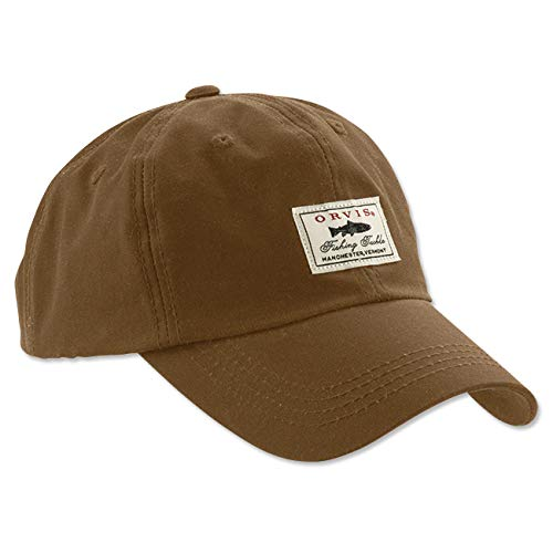 Orvis Vintage Waxed Cotton Ball Cap (Sandstone)