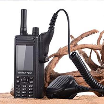 Radio-Tone RT4 4G LTE Android 6.0 WiFi PTT Smartphone + Rainproof Mic Speaker for Smartphones Set