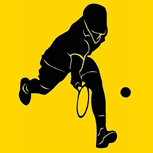 yiyiyaya Tennis Aufkleber Autofenster Sport Aufkleber Wandaufkleber Name Poster Vinyl Wandtattoos Dekor Wandbild Tennis Aufkleber 58X85 cm