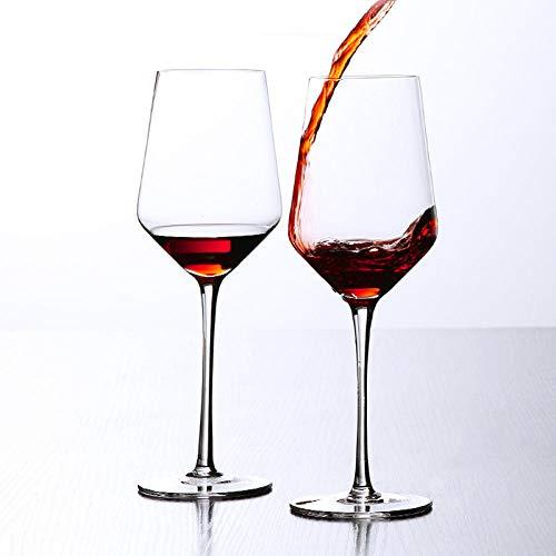 N/A Bicchiere da Vino in Cristallo, Bicchiere da Vino Alto, Decanter a Forma di U Trasparente da 430 ml (Singolo)