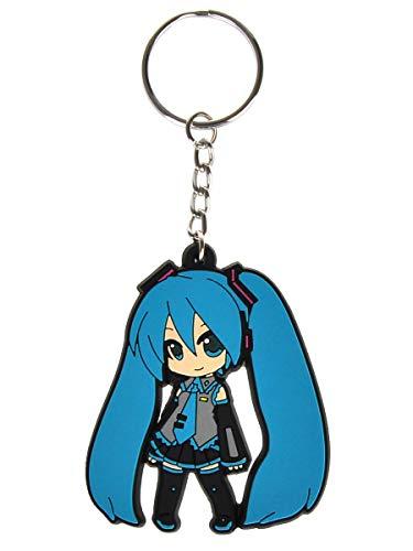 CoolChange Vocaloid Schlüsselanhänger mit Miku Hatsune Chibi Figur aus PVC